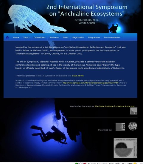 "2nd Symposium on ""Anchialine Ecosystems"""