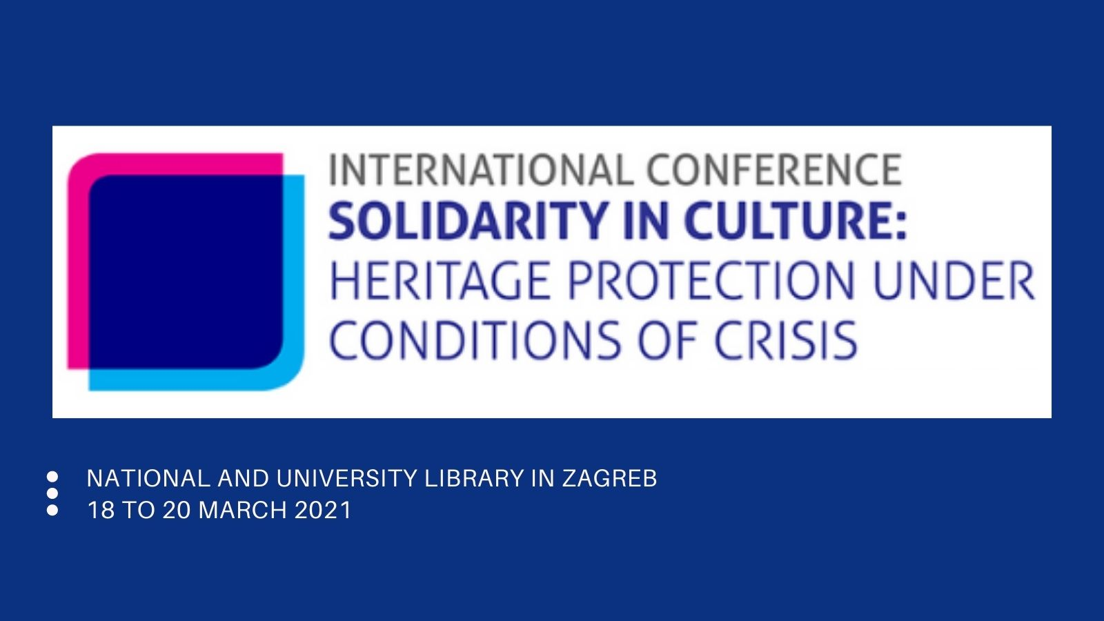 Solidarity in culture: Heritage protection under conditions of crisis